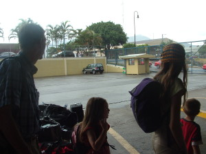 WAiting for the bus in Costa Rica