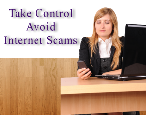 Take control avoid internet scams