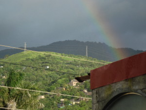 Matagalpa window view of a hill