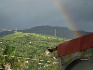 Matagalpa window view of a hill
